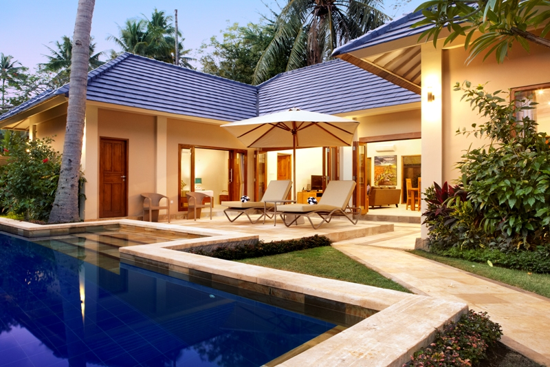 Garden pool villas private bali family accomodation for Gardens and villa