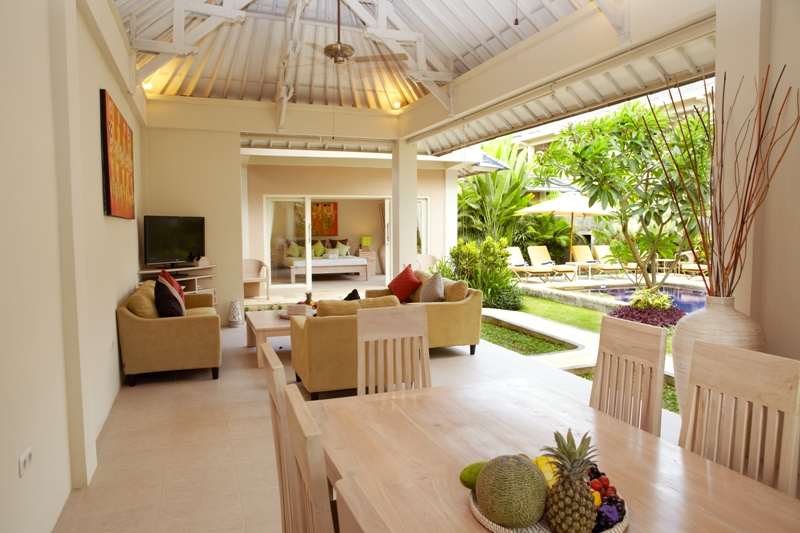 living room with garden garden pool villas bali family accomodation 17518